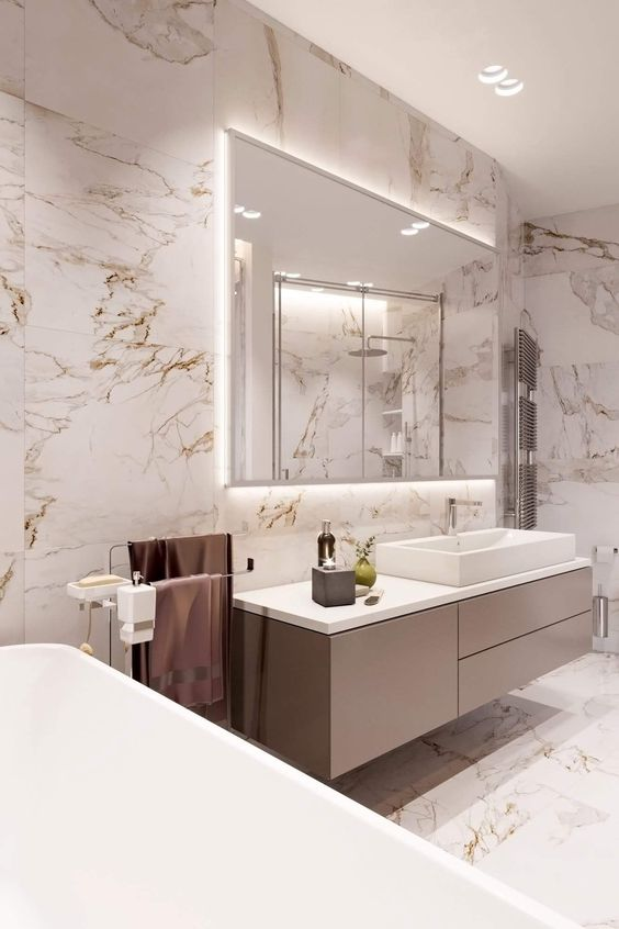Bathroom Lighting Ideas: Glowing Mirror