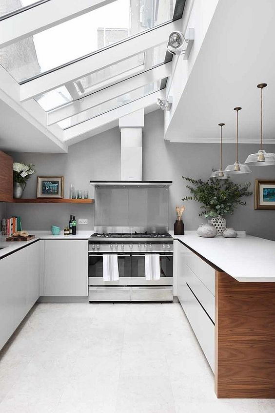 Big Kitchen Ideas: Elegant All-White