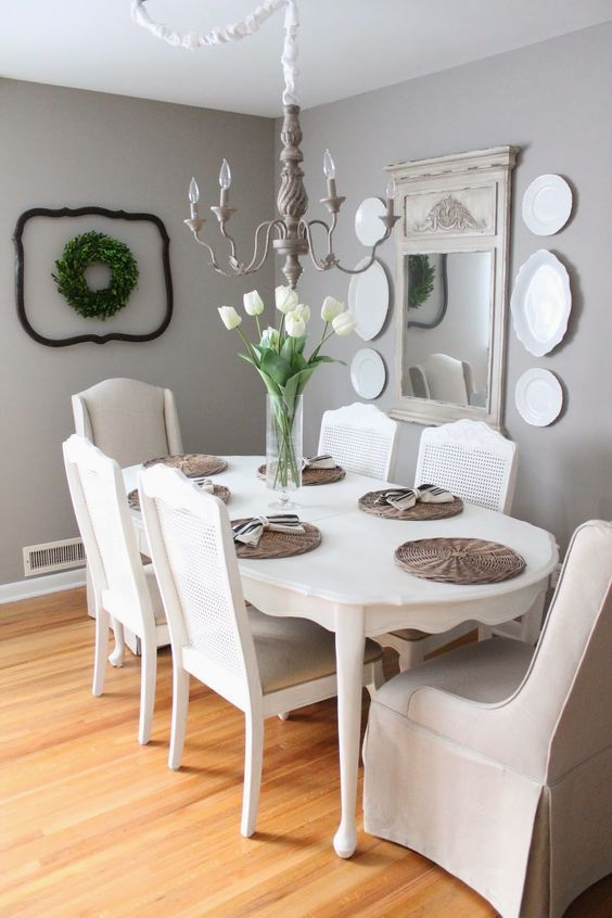gray dining room ideas 15