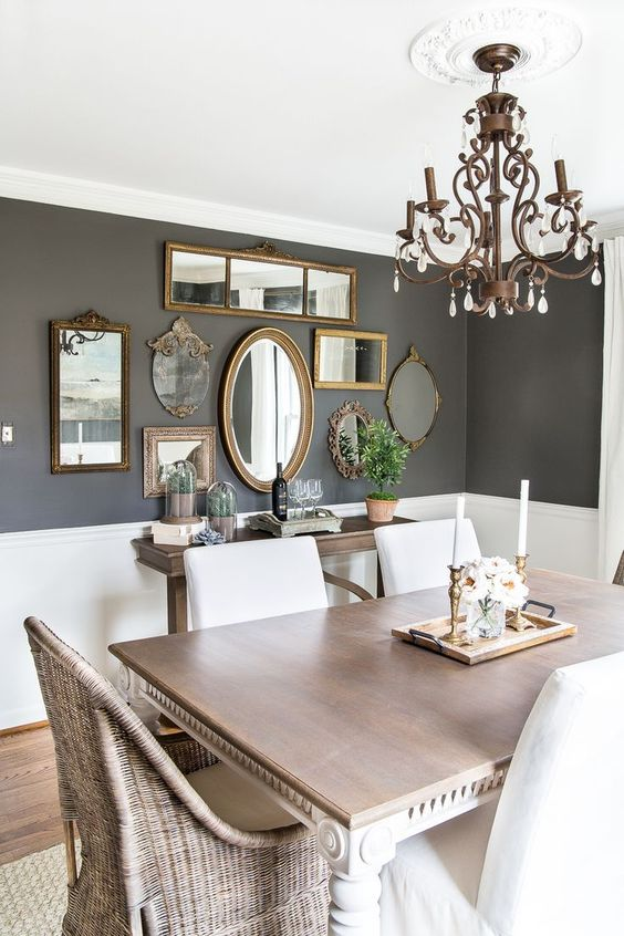 gray dining room ideas 19