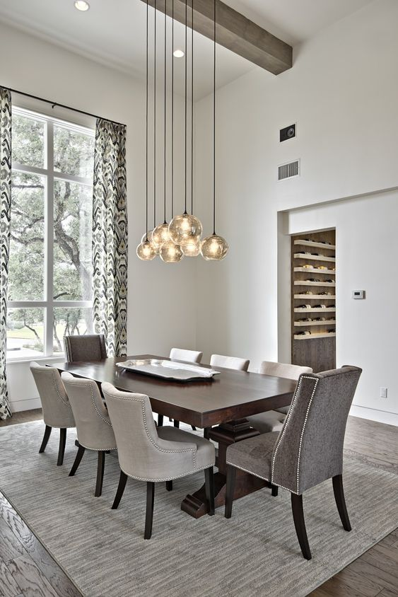 Gray Dining Room Ideas: Stunning Dining Set
