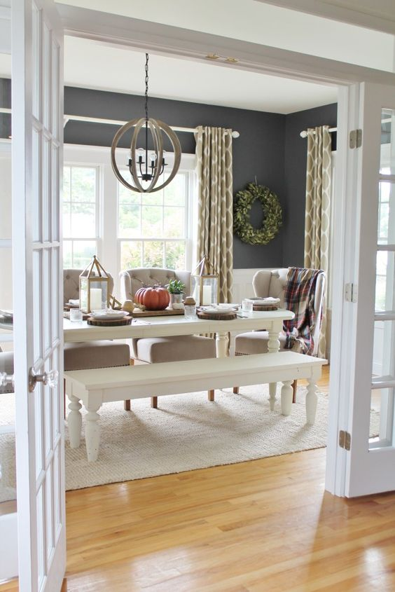 gray dining room ideas 20