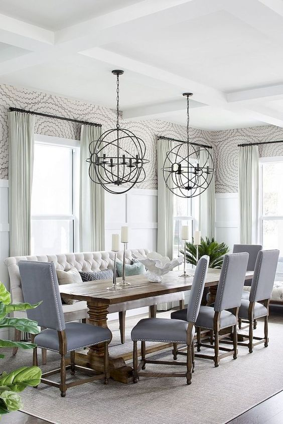 Gray Dining Room Ideas: Romantic and Relaxing