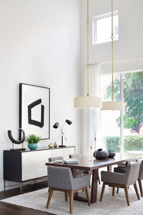 gray dining room ideas 6
