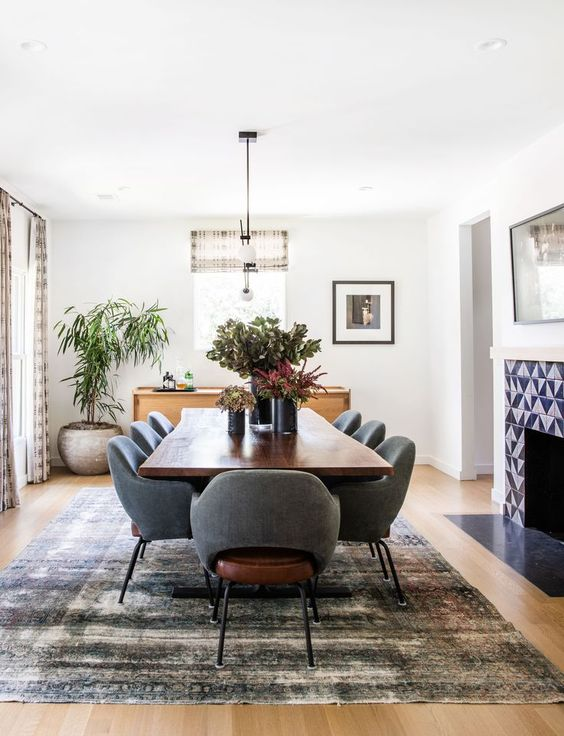 gray dining room ideas 7