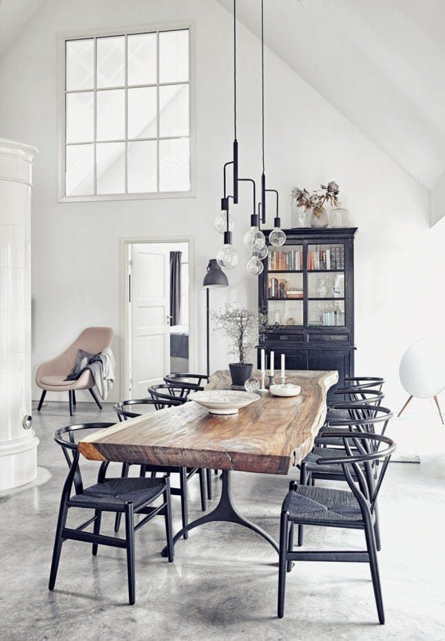 Industrial Dining Room Ideas: Simple Industrial Room