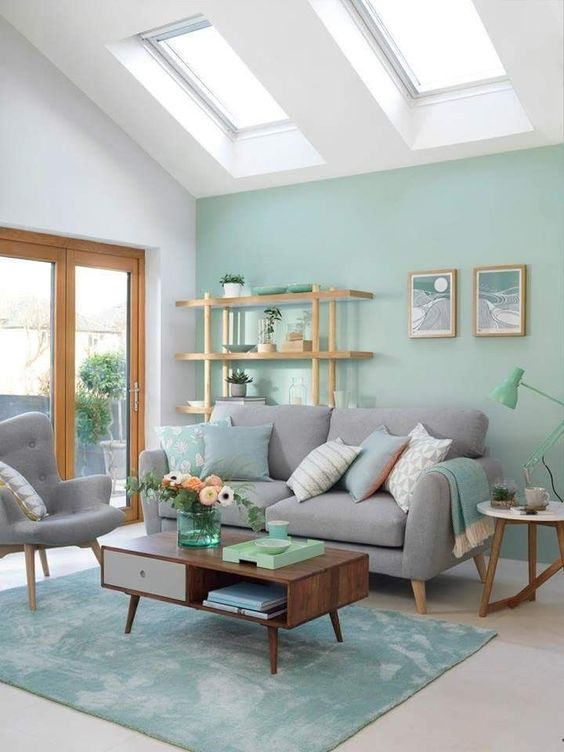 Living Room Paint Ideas: Soft Pastel Green