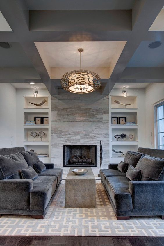 living room with fireplace ideas 14