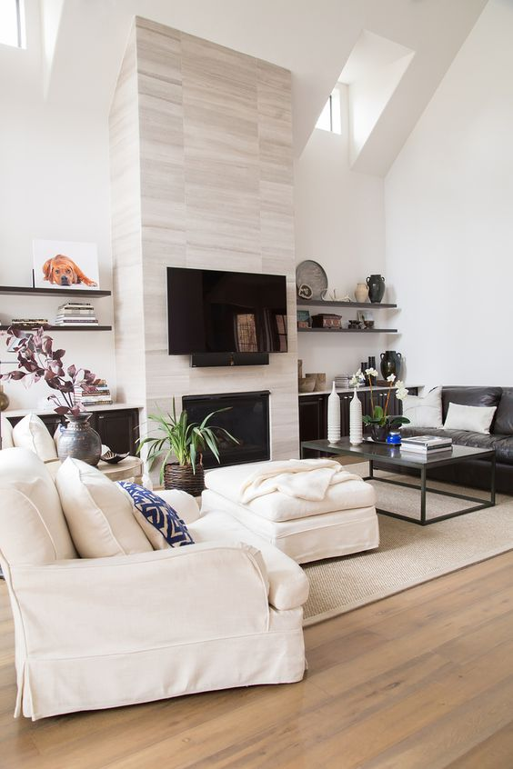 living room with fireplace ideas 16