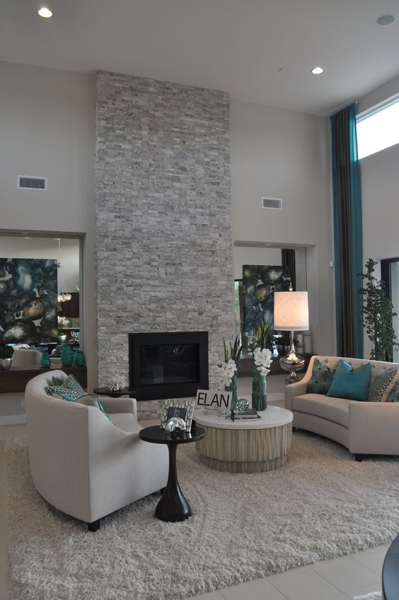 Living Room with Fireplace Ideas: Elegant Living Room