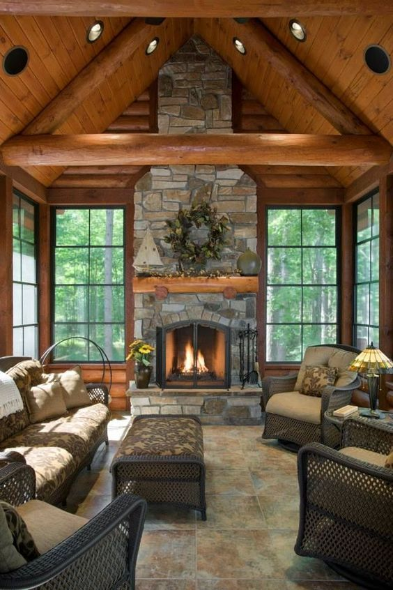 living room with fireplace ideas 20