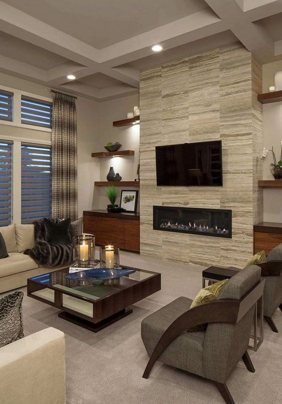 living room with fireplace ideas 5