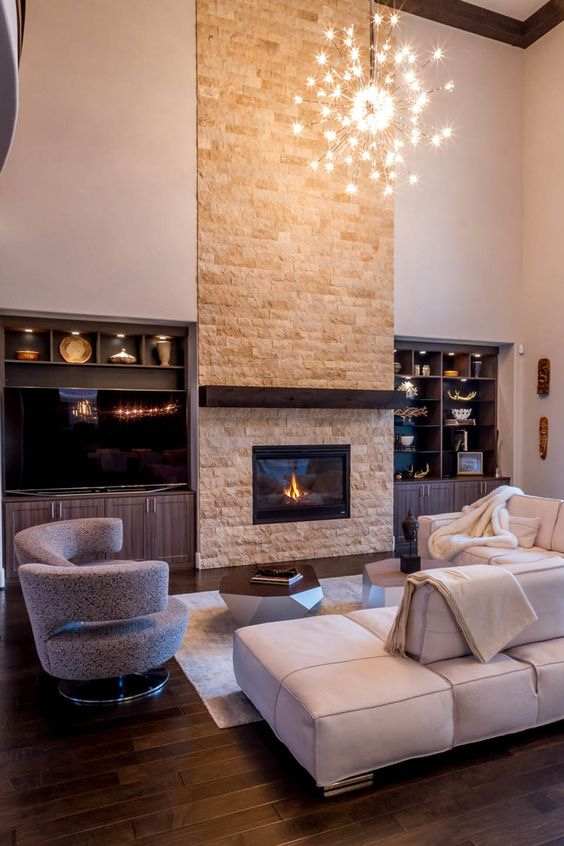 living room with fireplace ideas 7