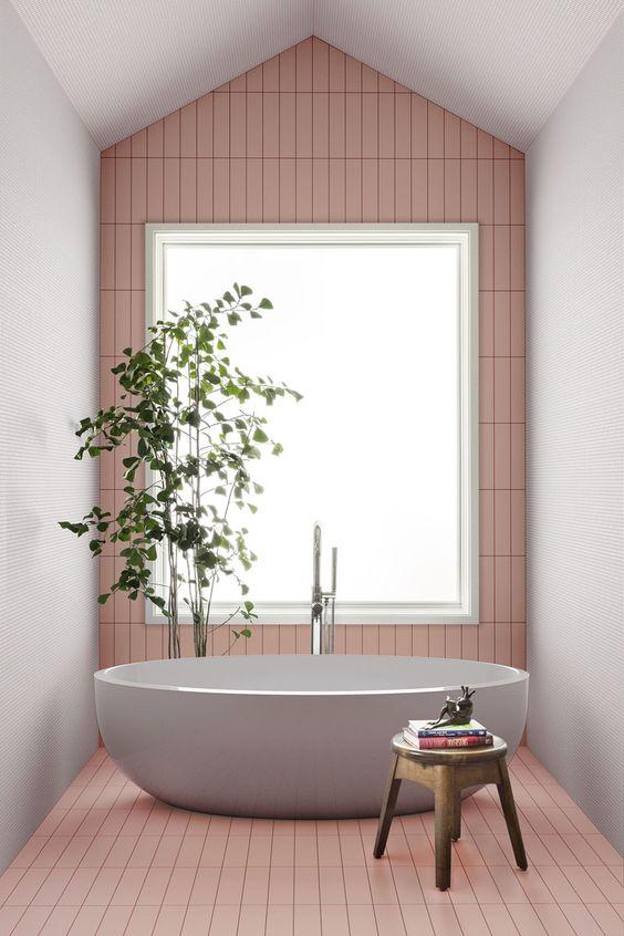 Pink Bathroom Ideas: Simple Pink Bathroom