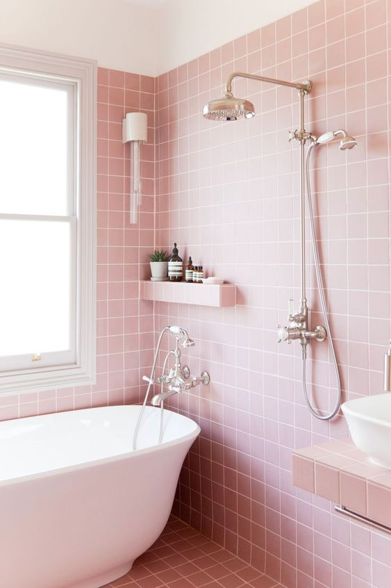 pink bathroom ideas 20