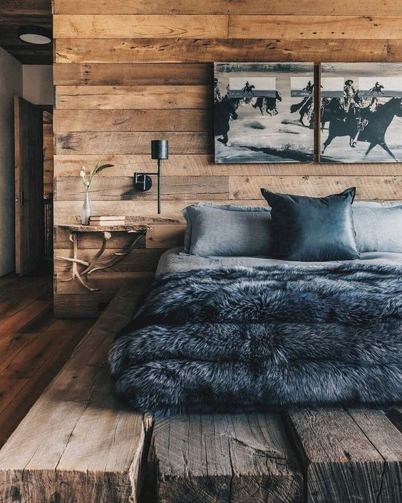 Rustic Bedroom Ideas: Mix with Modern Items