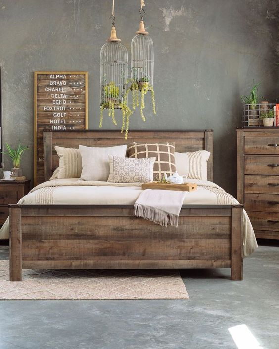 Rustic Bedroom Ideas: Full of Wood Element