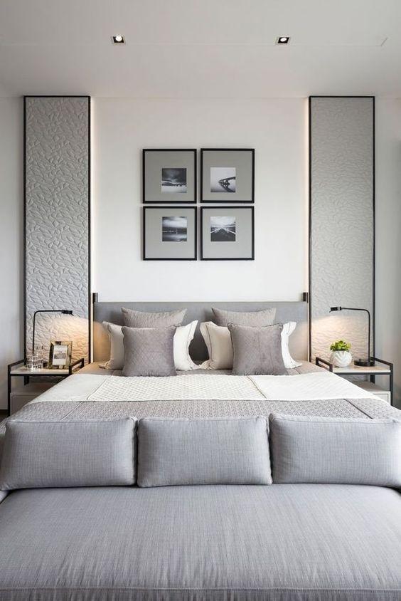 Simple Bedroom Ideas: Elegant Gray Bedroom