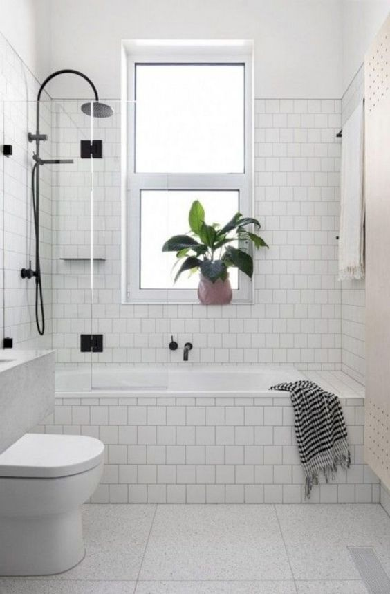 Tiny Bathroom Ideas: Bright White Bathroom