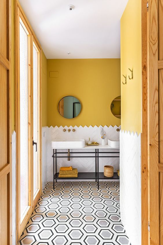 yellow bathroom ideas 10