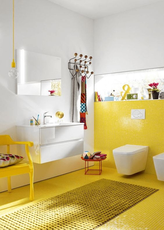 yellow bathroom ideas 11