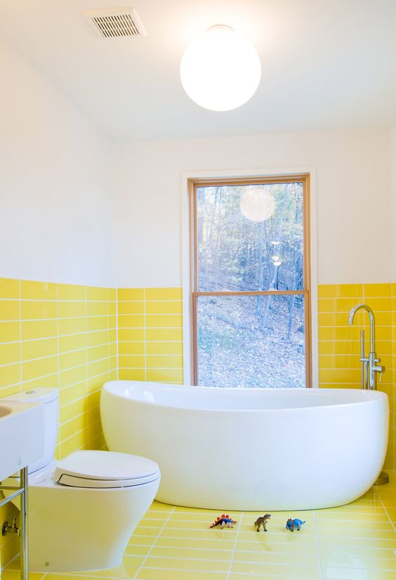 yellow bathroom ideas 12