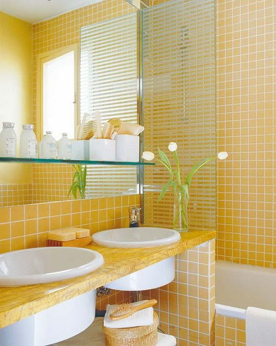 yellow bathroom ideas 13
