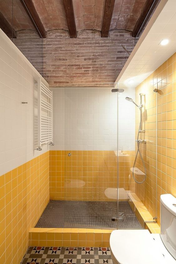 yellow bathroom ideas 14