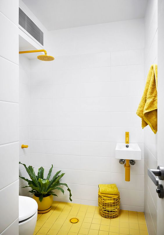 yellow bathroom ideas 15