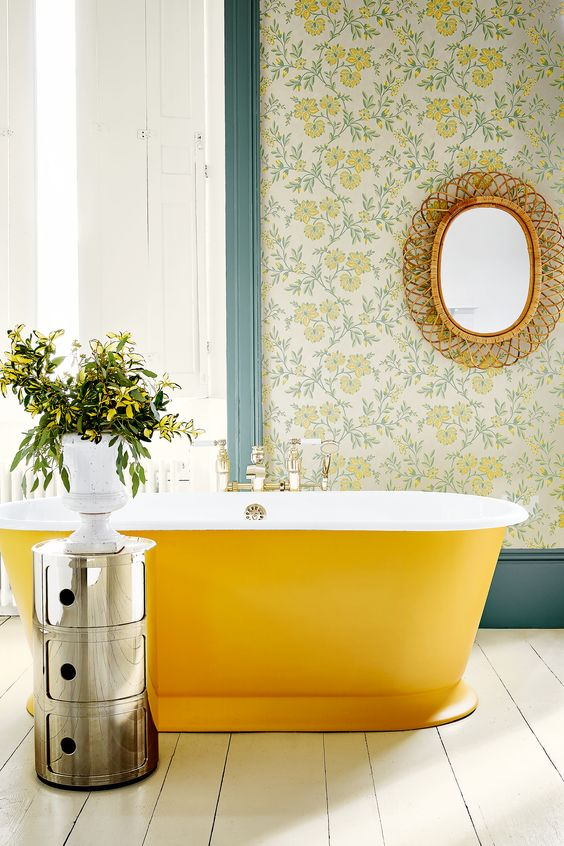 yellow bathroom ideas 16
