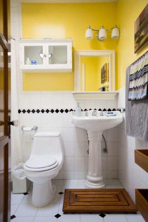 yellow bathroom ideas 18
