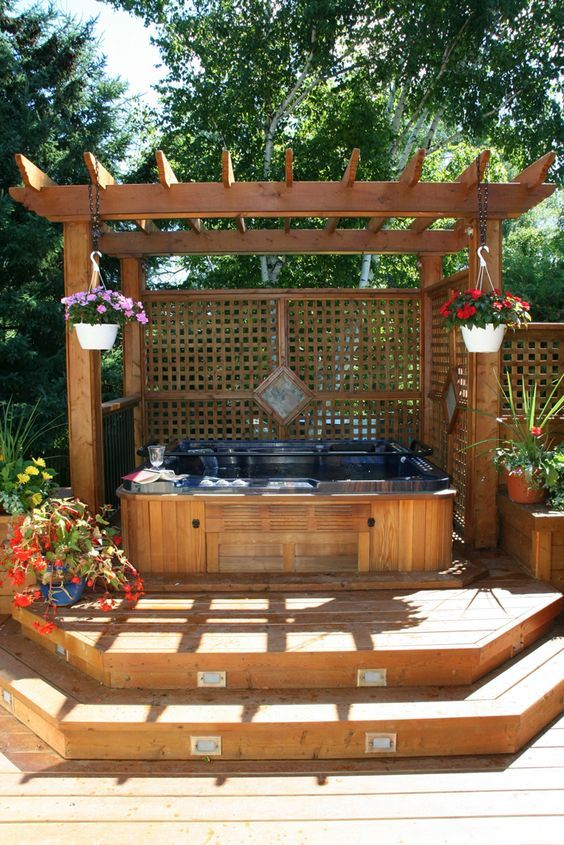 backyard hot tub ideas 14
