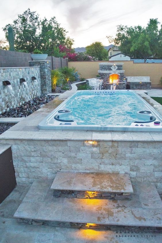 Backyard Hot Tub Ideas: Stunning Above-Ground Hot Tub