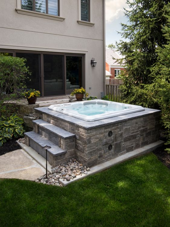 backyard hot tub ideas 6