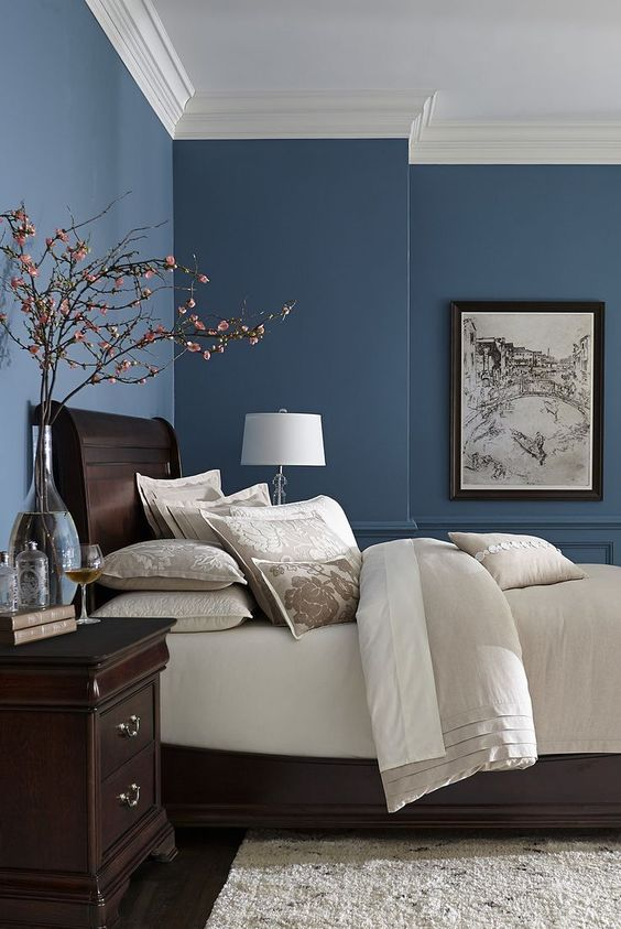 Bedroom Blue Ideas: The Great Combination