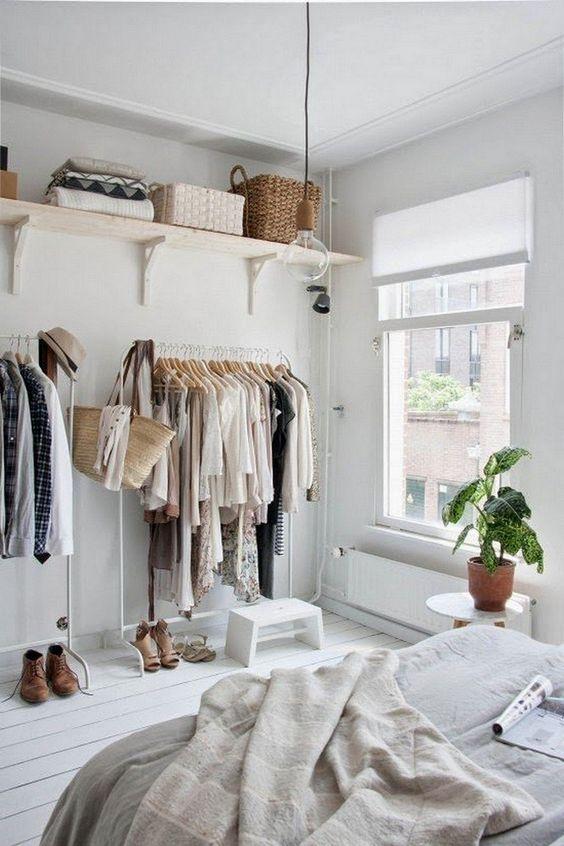 Bedroom Storage Ideas: Open Clothes Storage