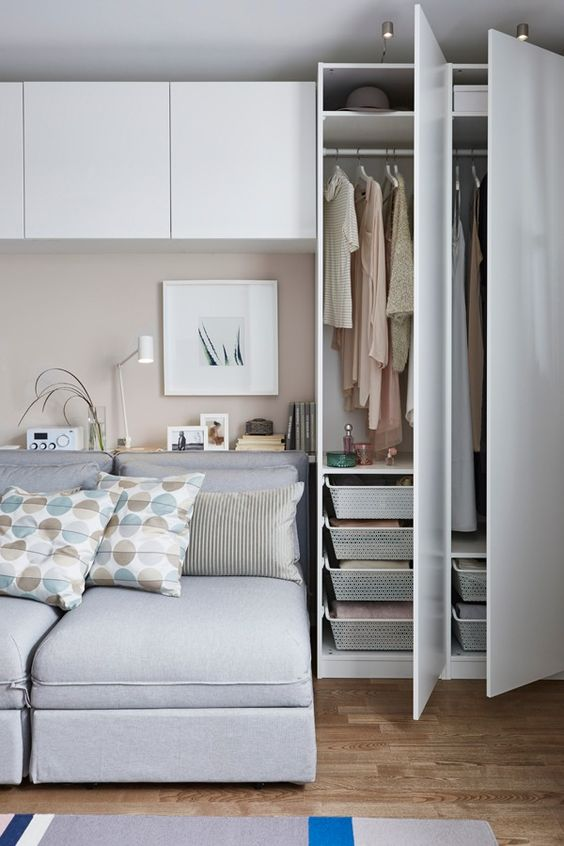 Bedroom Storage Ideas: Simple Cabinets and Wardrobe