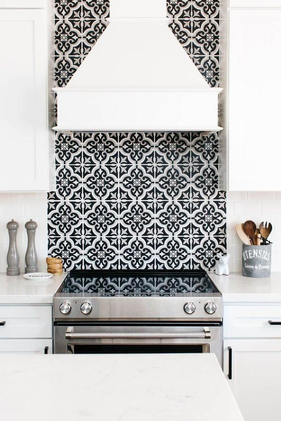Kitchen Backsplash Ideas: Patterned Tile Backsplash