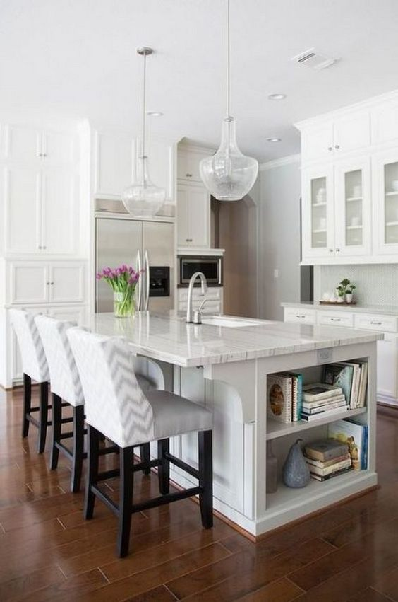 Kitchen Island Ideas: Elegant Marble Island