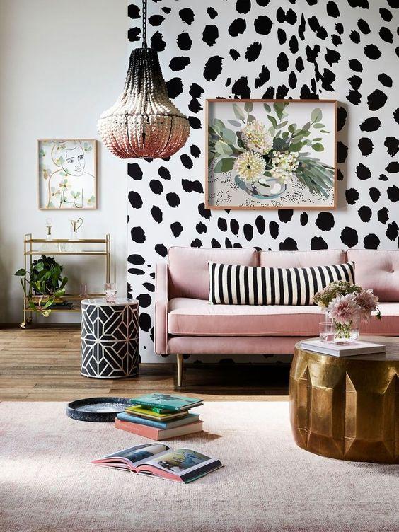 Living Room Wallpaper Ideas: Eye-Catching Wallpaper