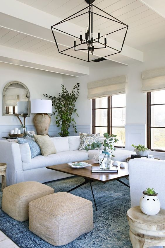 Sectional Living Room Ideas: Airy Farmhouse Room
