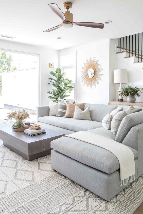 Sectional Living Room Ideas: Relaxing Scandinavian