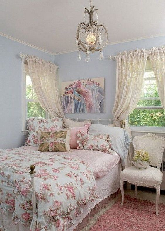 Shabby Chic Bedroom Ideas: Lovely Pastel Room