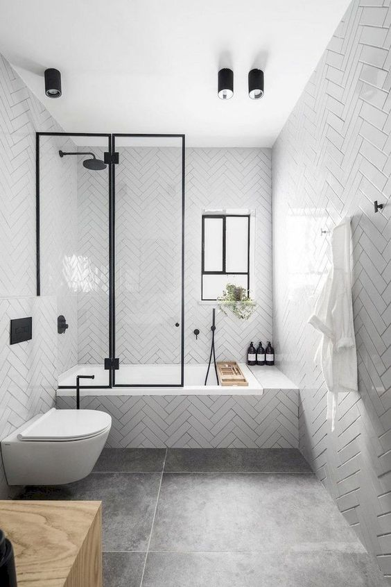 Simple Bathroom Ideas: Black and White