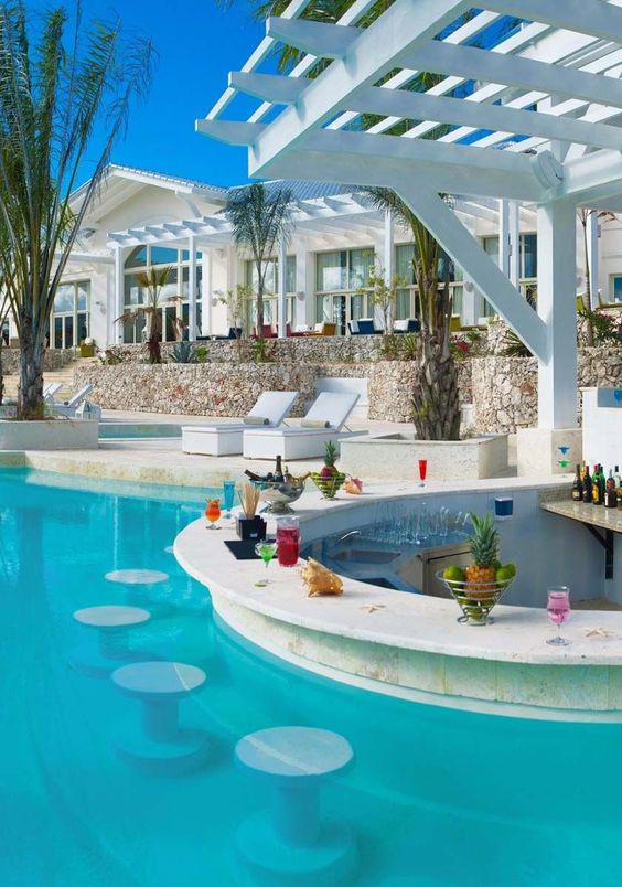 Swimming Pool Decorations Ideas: Cool Pool Bar