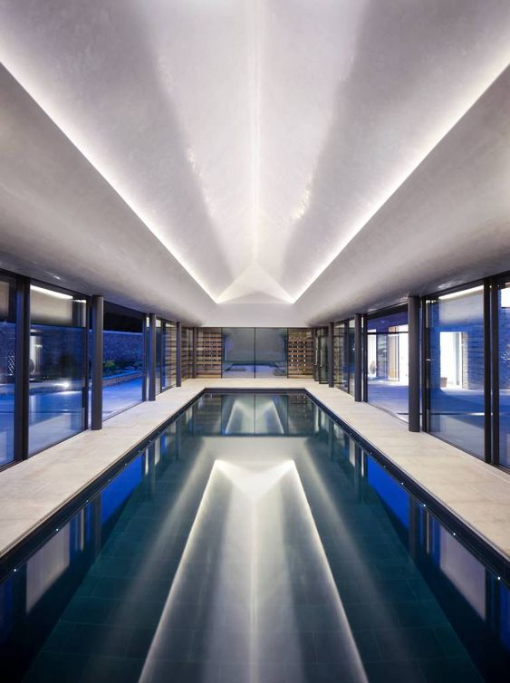 swimming pool lighting ideas 13
