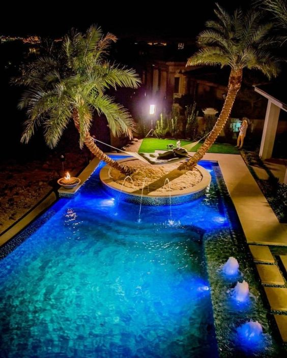 swimming pool lighting ideas 15