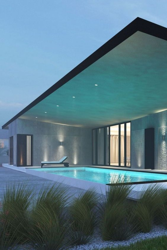 Swimming Pool Lighting Ideas: Calming Lighting Feature