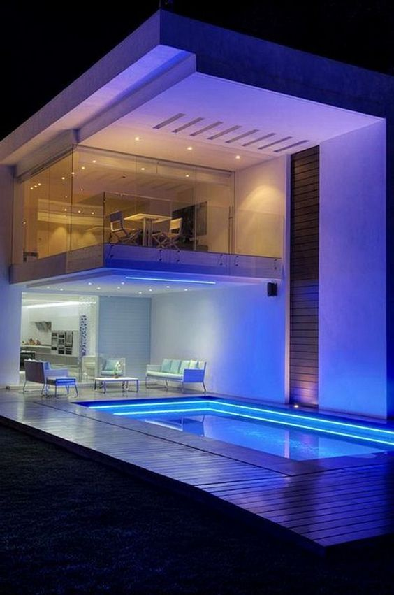 swimming pool lighting ideas 6