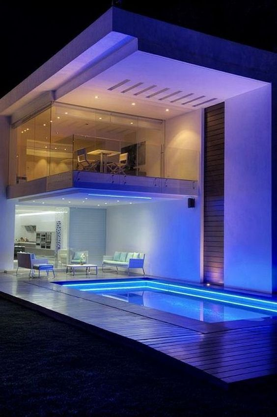 swimming pool lighting ideas 9